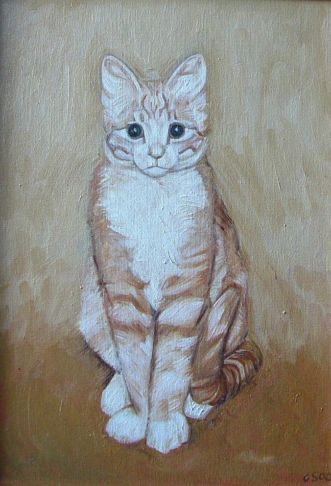 Gerald Shepherd - Cat Sketch