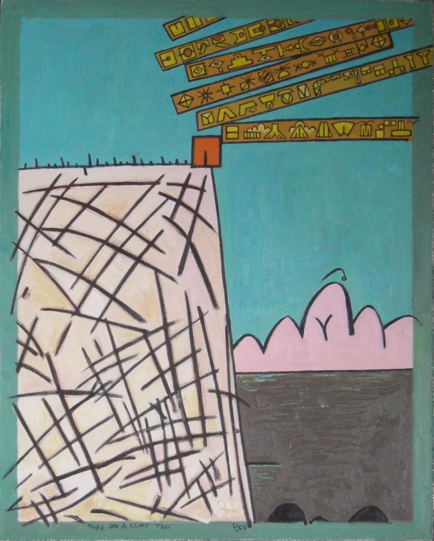 Gerald Shepherd - Nude On A Cliff Top