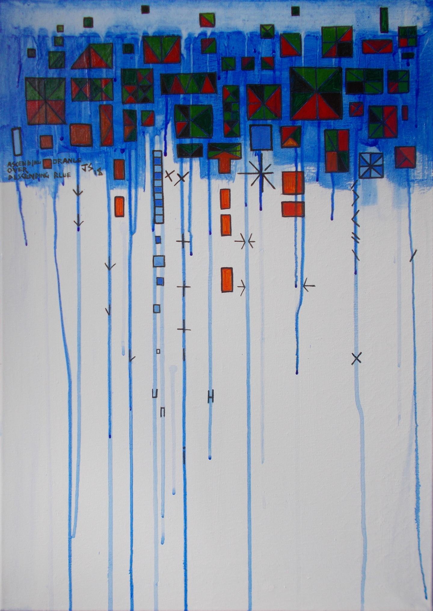 Gerald Shepherd - Ascending Orange Over Descending Blue