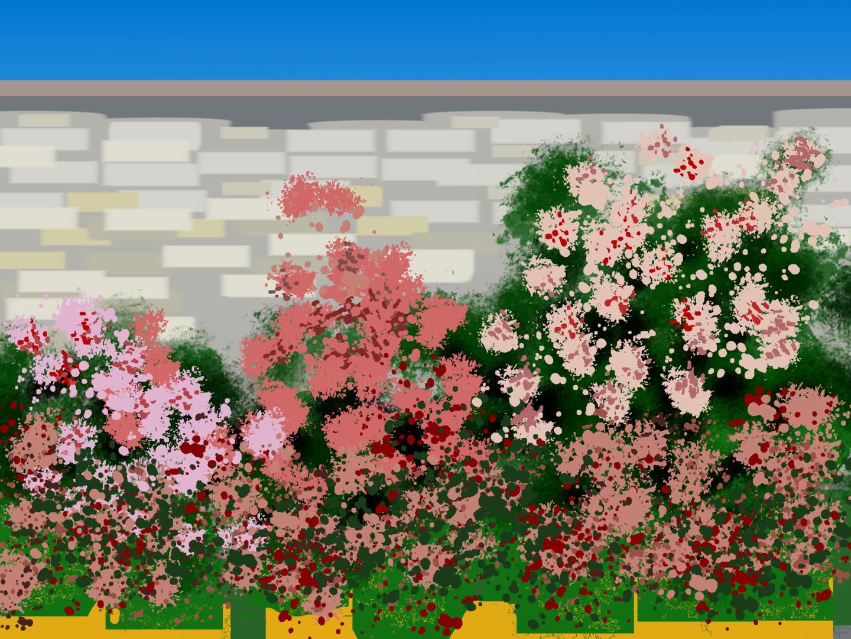Gerald Shepherd - Rose Wall
