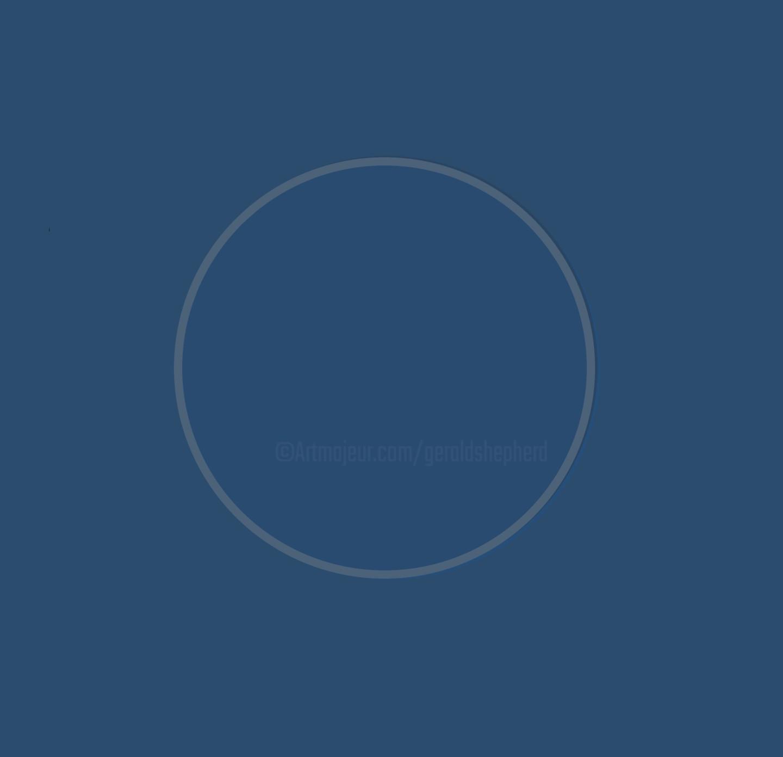 Gerald Shepherd - Blue Circle On Blue Ground - Eclipsed Version