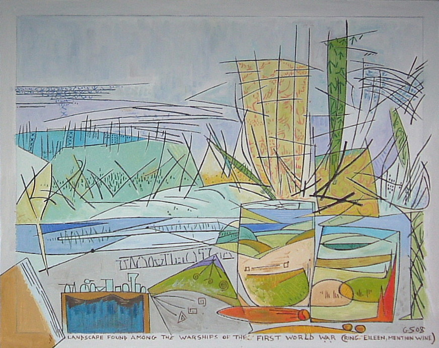 Gerald Shepherd - Landscape Found Among Warships From World War 1