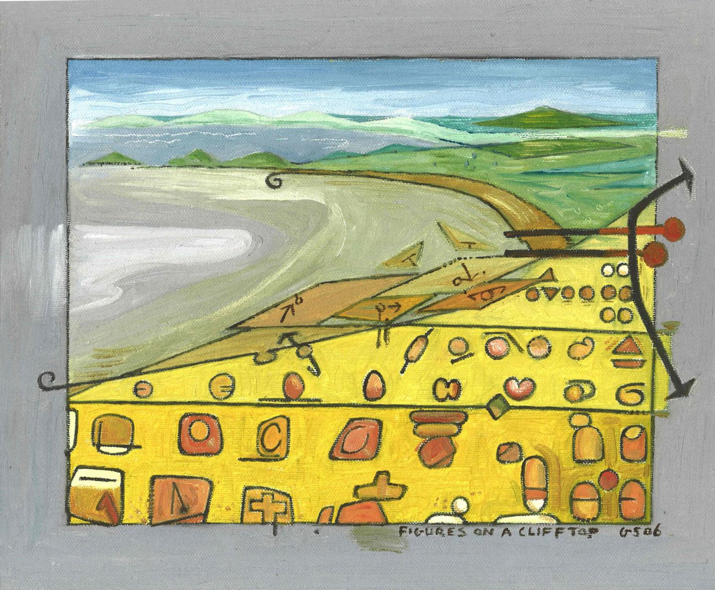Gerald Shepherd - Figures On A Cliff Top
