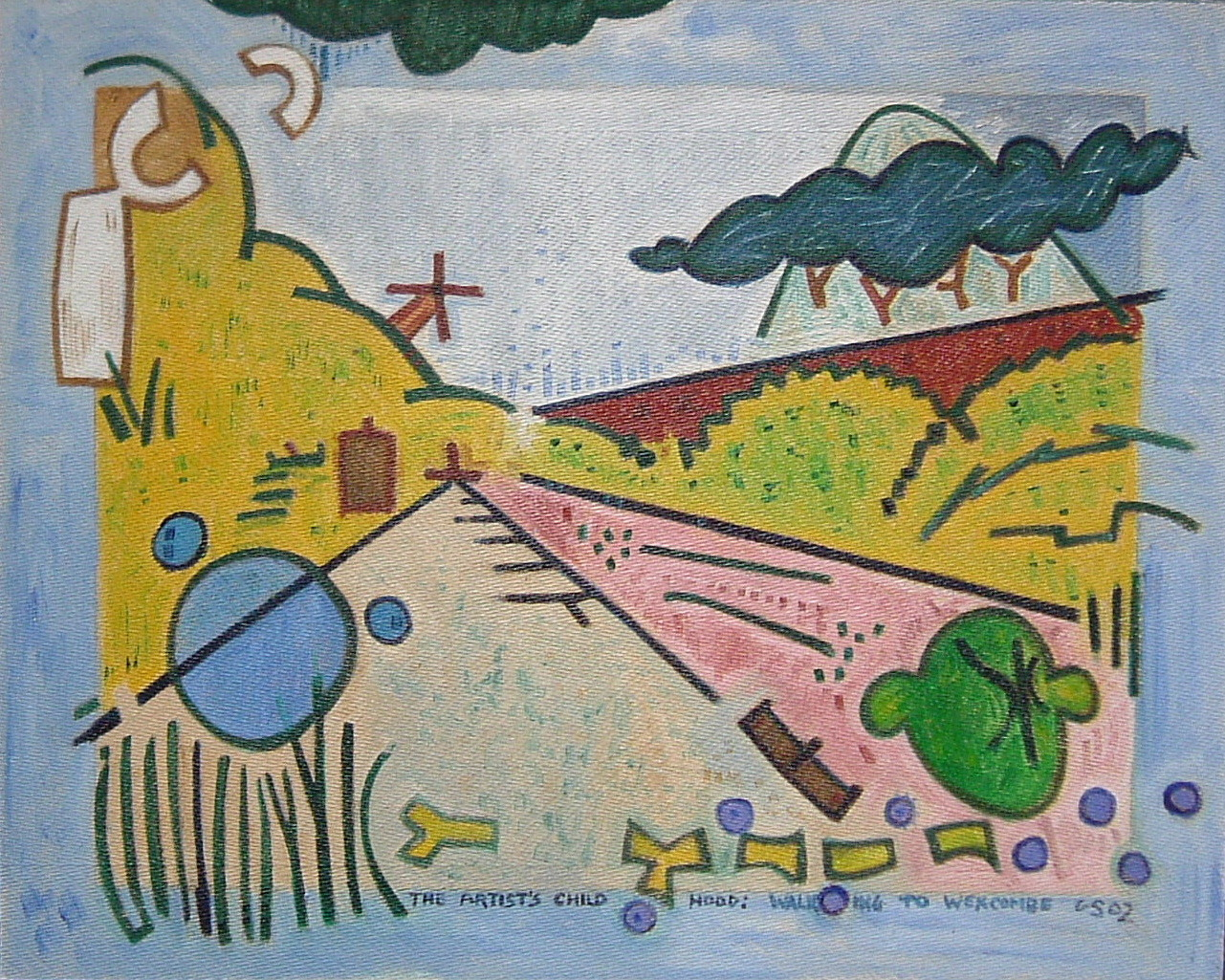 Gerald Shepherd - The Artist's Childhood - Walking To Wexcombe