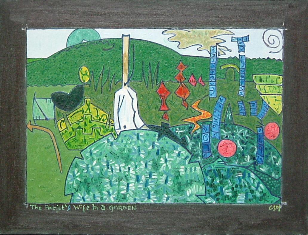 Gerald Shepherd - The Artist's Wife In A Garden 1