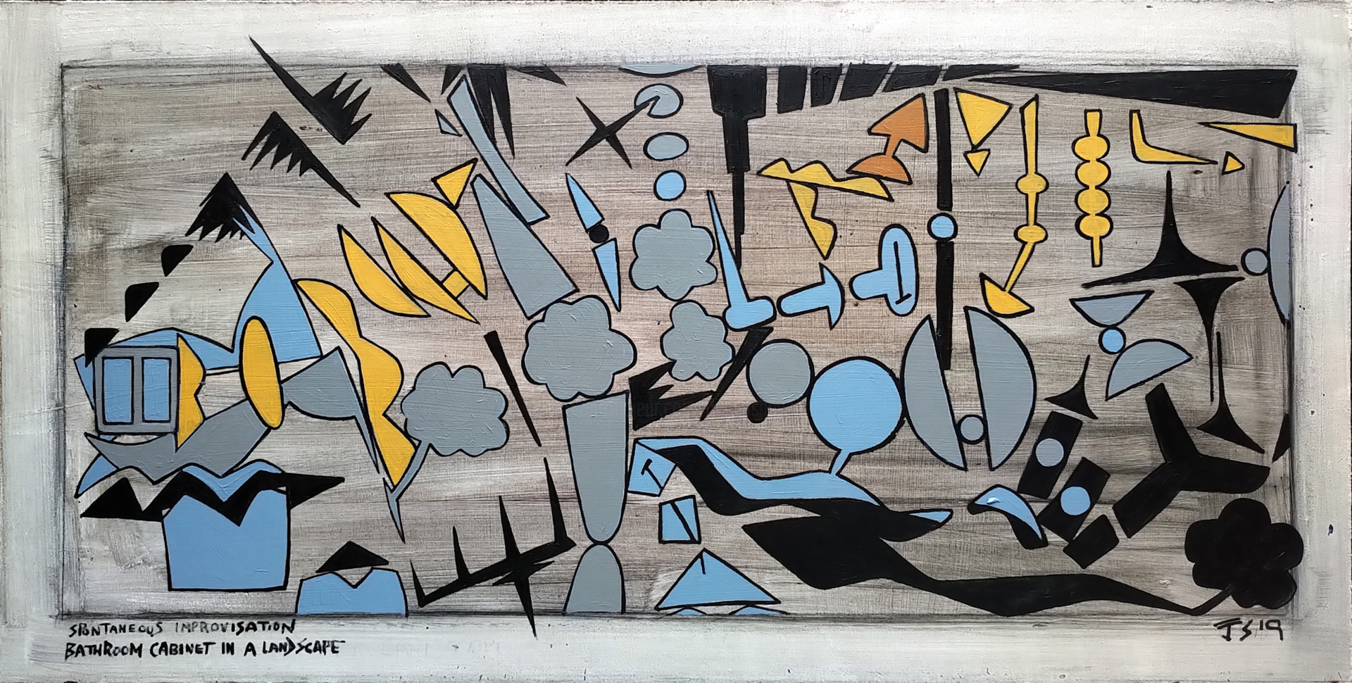 Gerald Shepherd - Bathroom Cabinet In A Landscape
