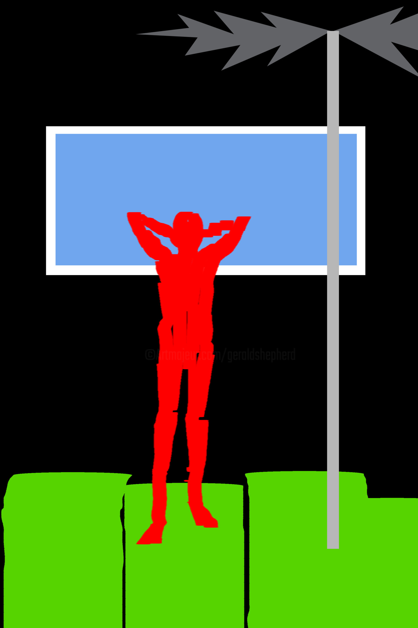Gerald Shepherd - Nude Before A Window