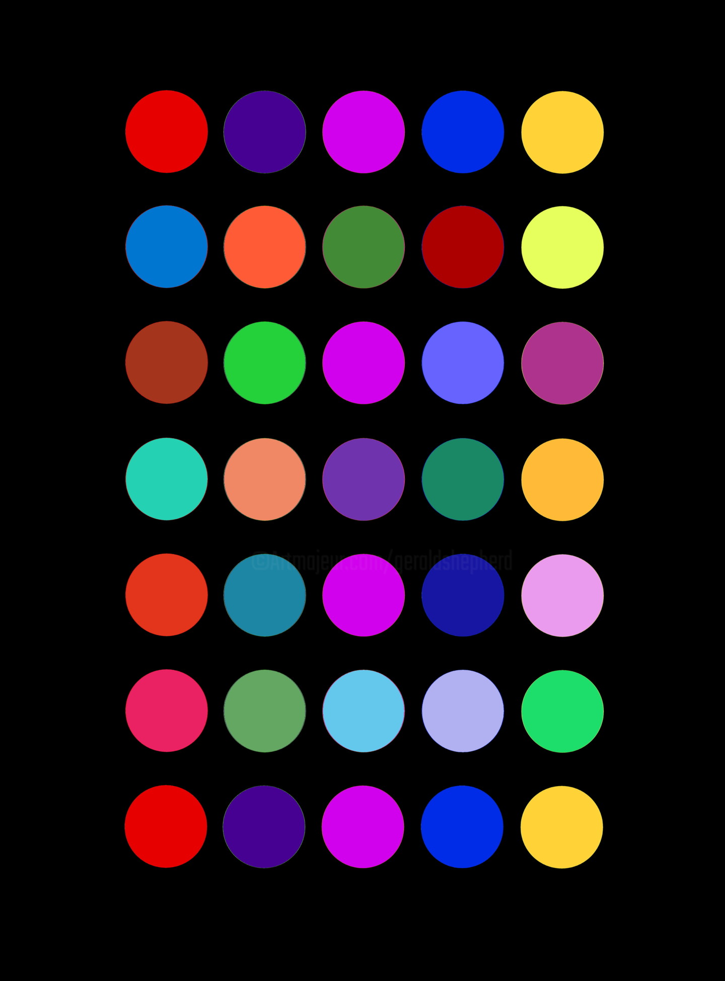 Gerald Shepherd - Coloured Circle Changes