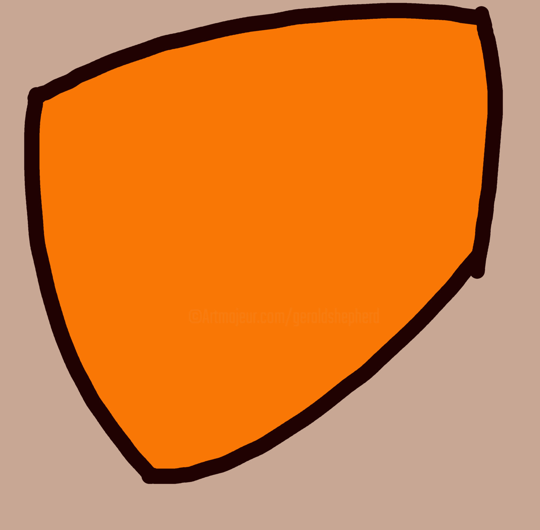 Gerald Shepherd - Orange Shape