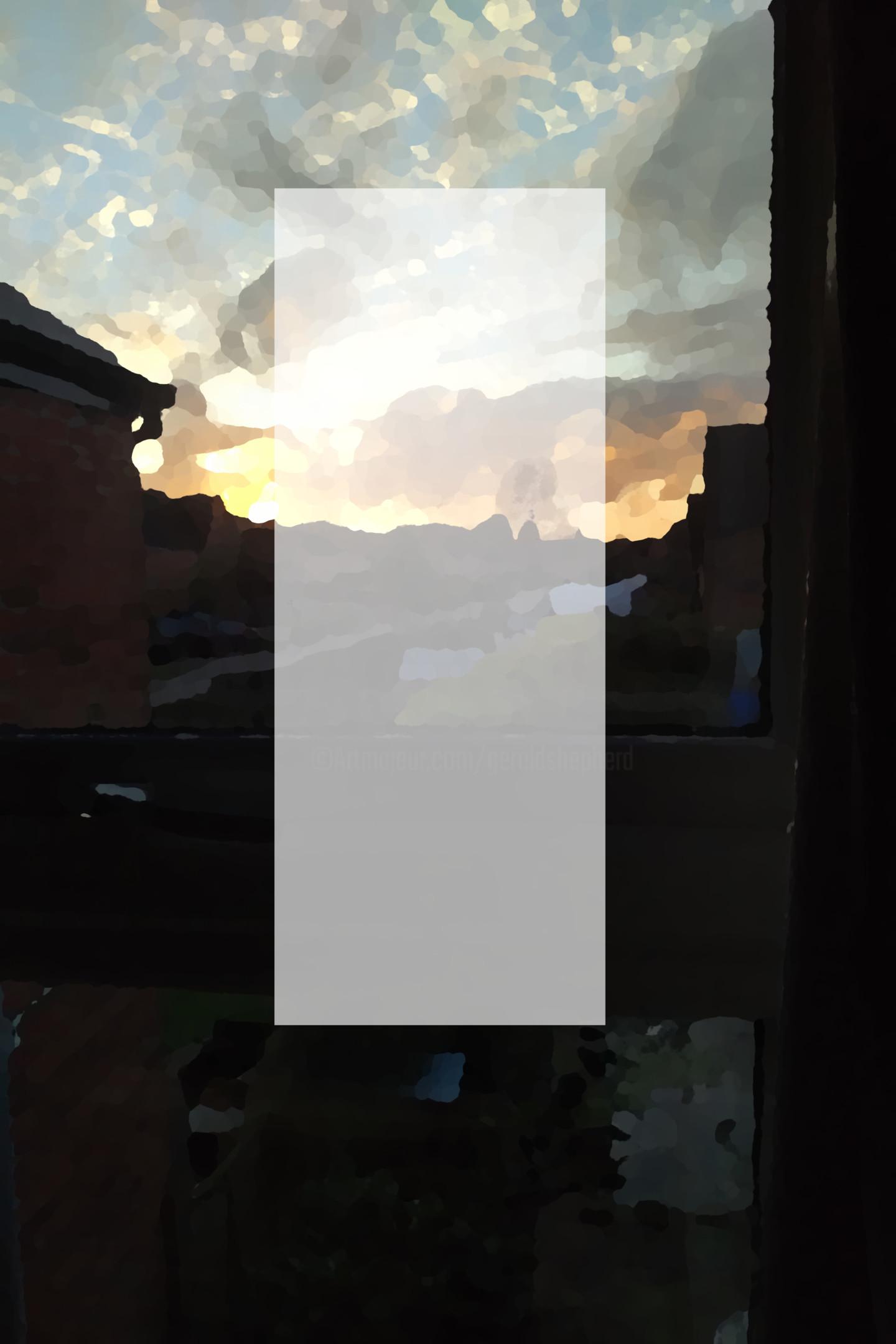 Gerald Shepherd - White Oblong At Sunset
