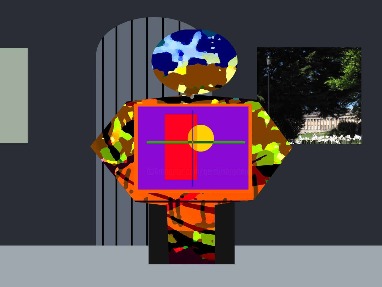 Gerald Shepherd - Figure In A Doorway