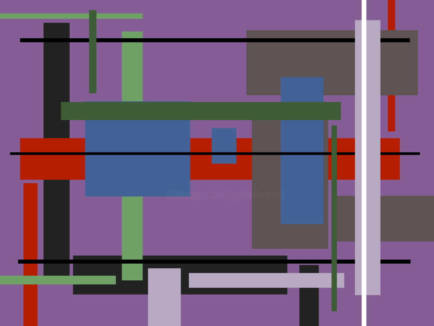 Gerald Shepherd - Superimposed Abstracts
