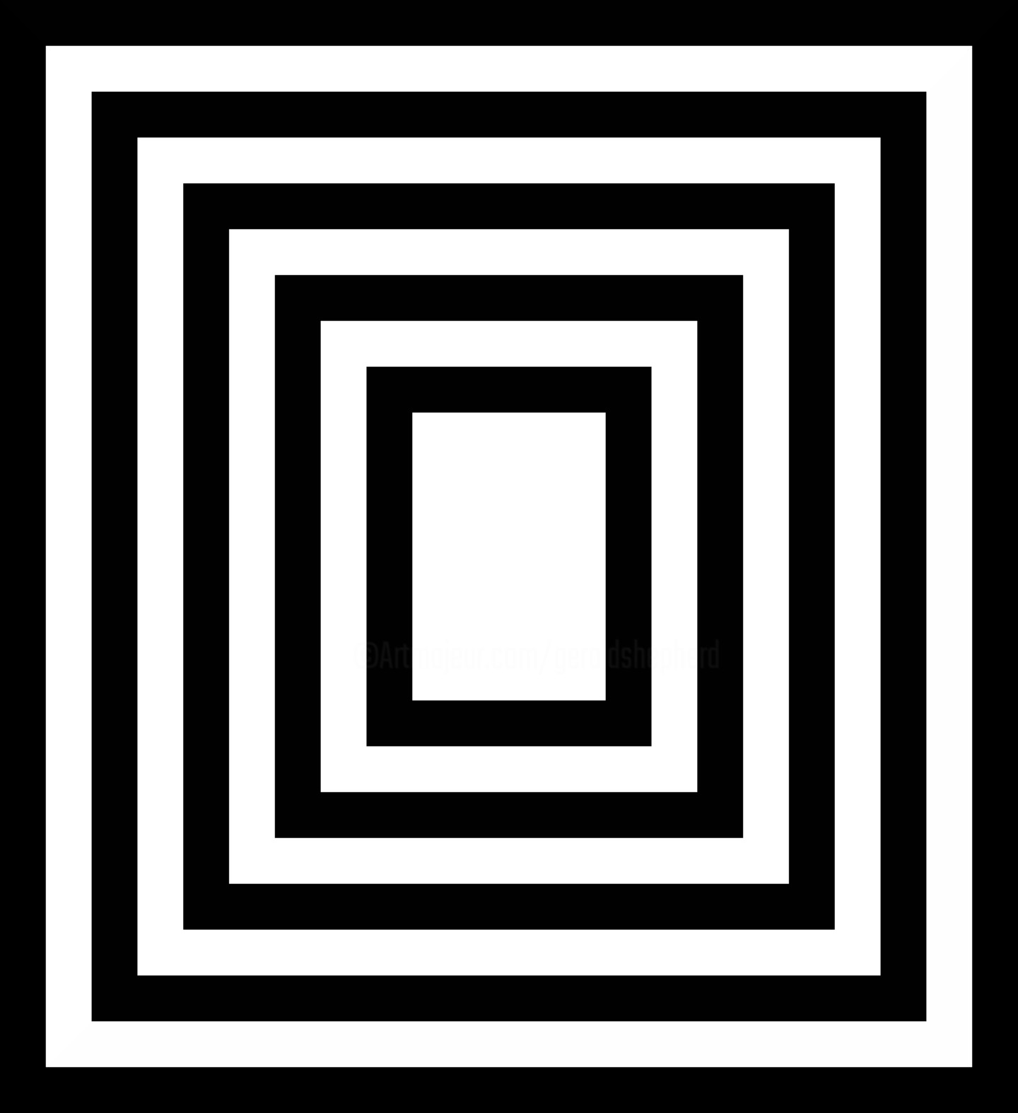 Gerald Shepherd - Borders (Black And White)