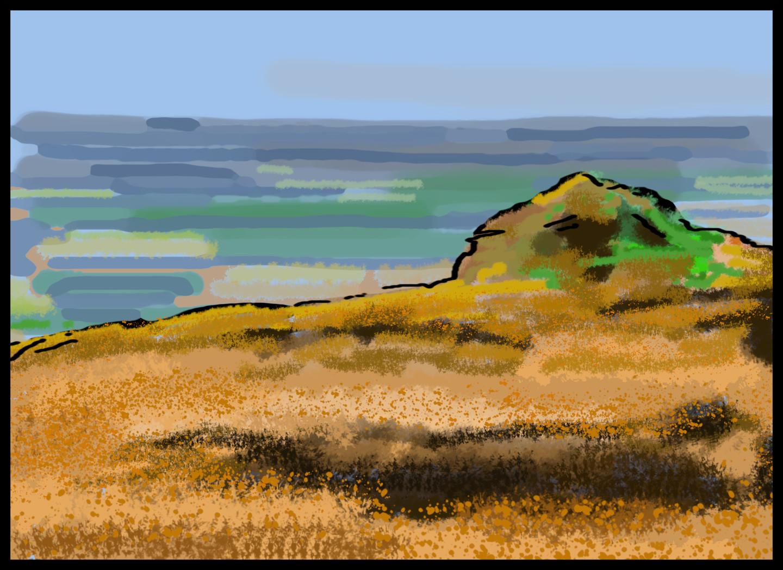Gerald Shepherd - Landscape From Hill