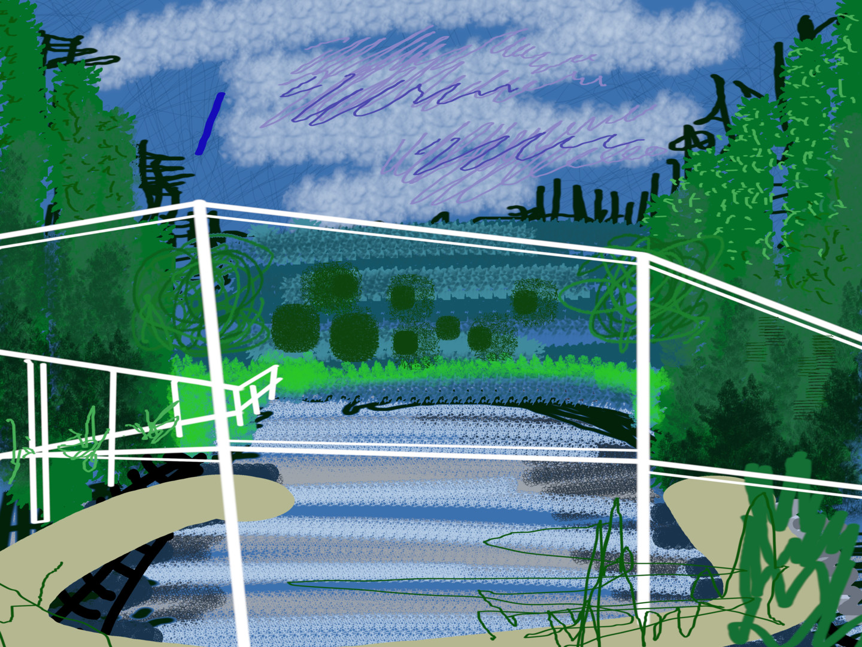 Gerald Shepherd - Bridge Over River