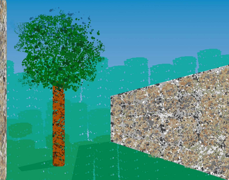 Gerald Shepherd - Wall In A Landscape