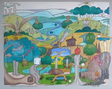 Blue Sock Landscape 2