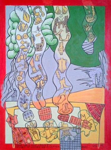Three And A Half Graces -  Lichen On A Letter Box