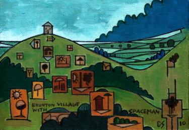 Brunton Village With Spaceman