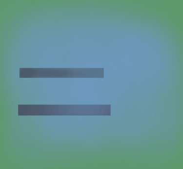Blue On Green (Horizontal Lines)