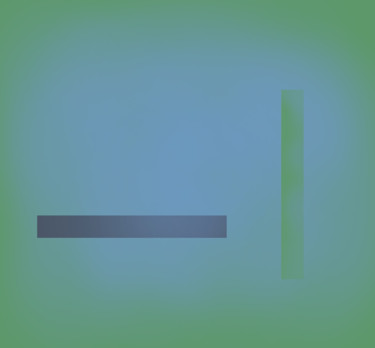 Blue On Green (Horizontal And Vertical Line)