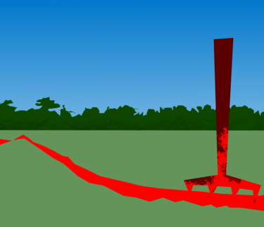 A Red Gash In A Landscape