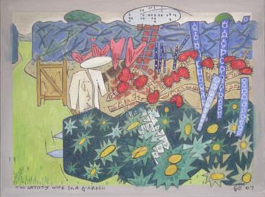 The Artist's Wife In A Garden 2