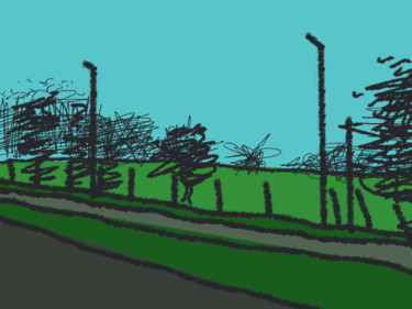 A Study In Street Lamps And Fence Posts