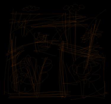 Faint Landscape (Orange)
