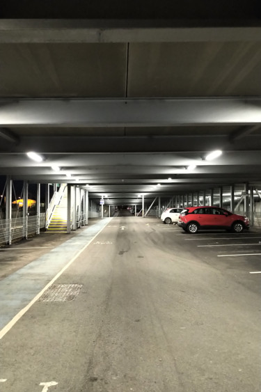 The Car Park At Night