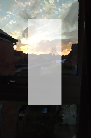White Oblong At Sunset