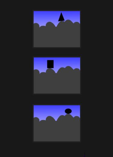 Three Shapes On A Hill