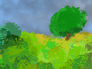 Hills And Tree