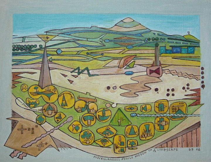 Gerald E. W. Shepherd - Miscellaneous People In A Landscape