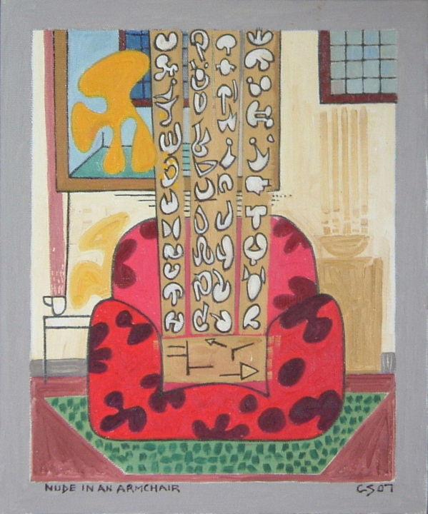 Gerald Shepherd - Nude In An Armchair