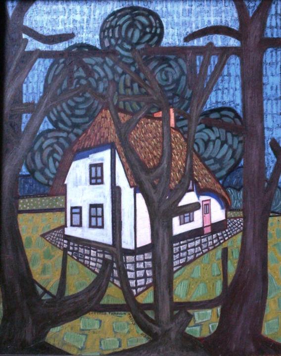 Gerald E. W. Shepherd - Cottage Through Trees