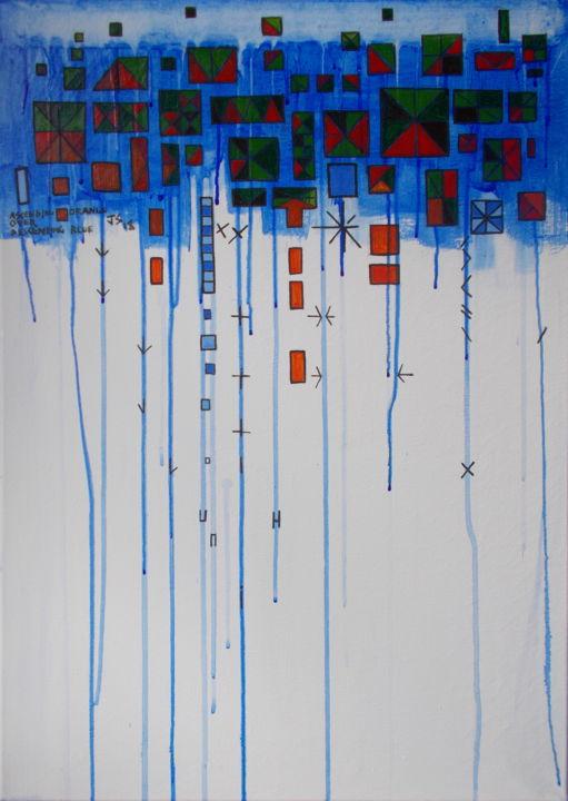 Gerald Edward William Shepherd - Ascending Orange Over Descending Blue