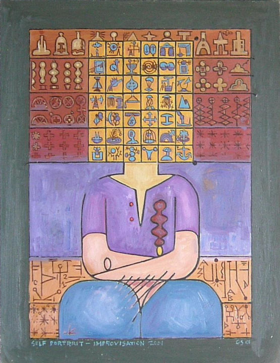 Gerald E. W. Shepherd - Self Portrait - Improvisation 2001
