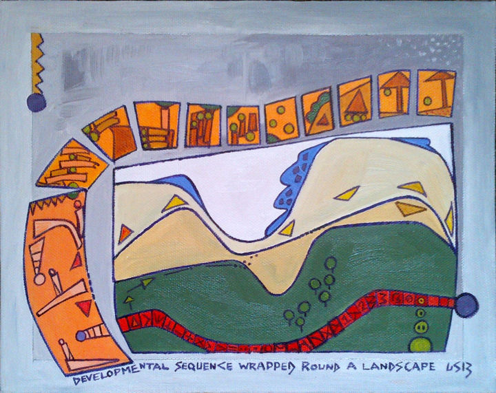 Gerald Edward William Shepherd - Developmental Sequence Wrapped Round A Landscape