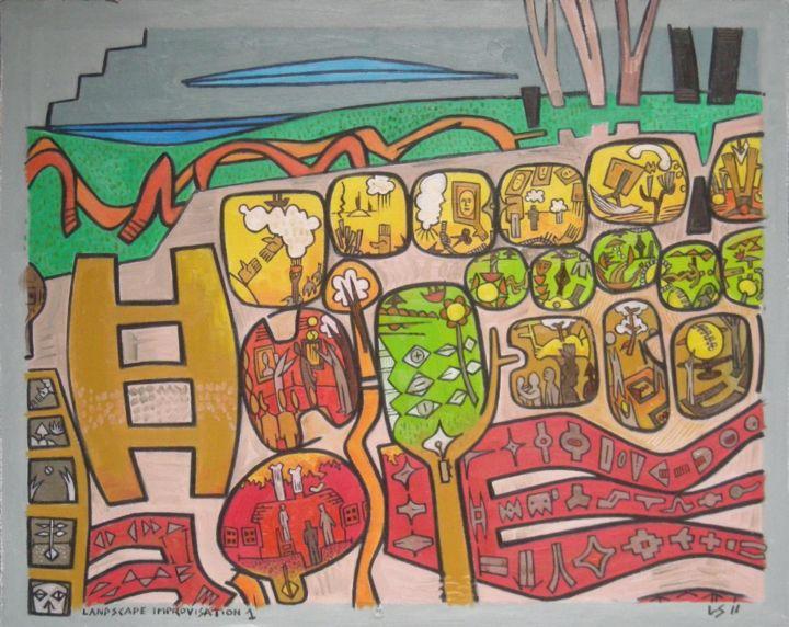 Gerald Edward William Shepherd - Landscape Improvisation 1
