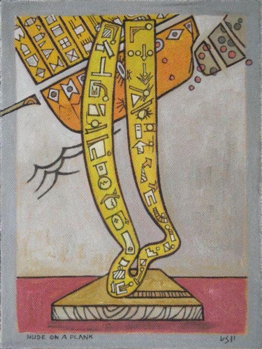 Gerald Edward William Shepherd - Nude On A Plank