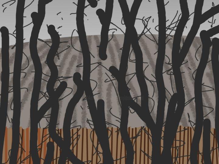 Gerald E. W. Shepherd - Winter Fields Behind Trees