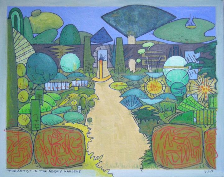Gerald E. W. Shepherd - The Artist In The Abbey Gardens