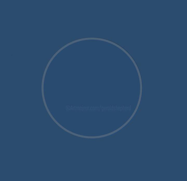 Gerald E. W. Shepherd - Blue Circle On Blue Ground - Eclipsed Version