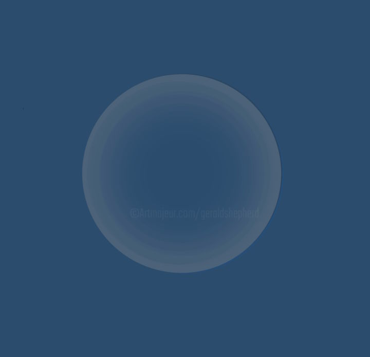 Gerald Shepherd - Blue Circle On Blue Ground - Disappearing Version