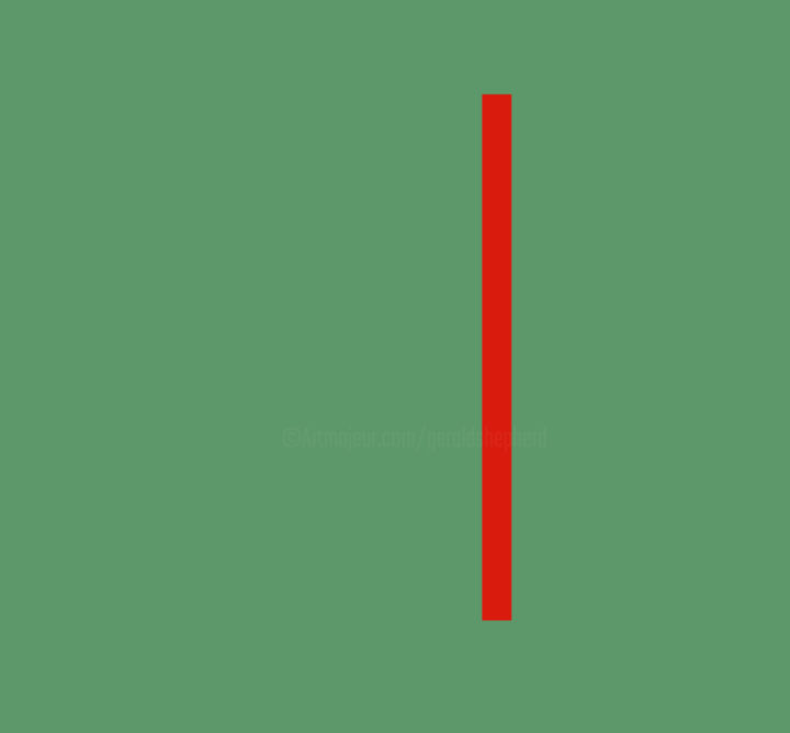 Gerald Shepherd - Red Slit Off Centre
