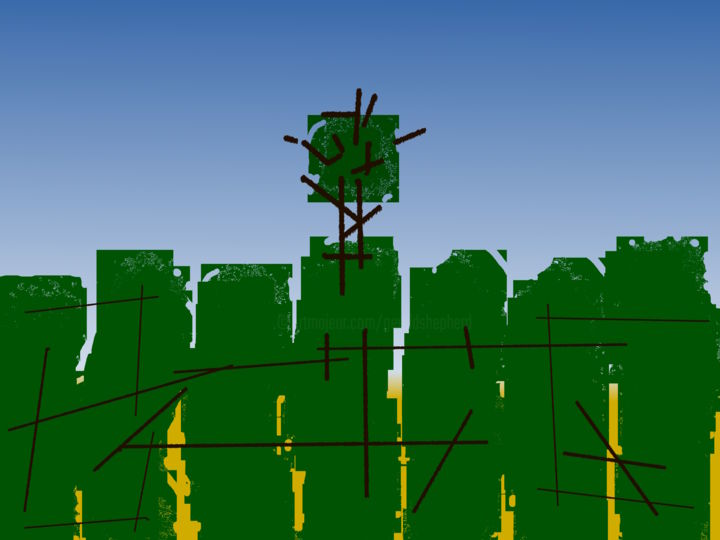Gerald Shepherd - Landscape With Tree