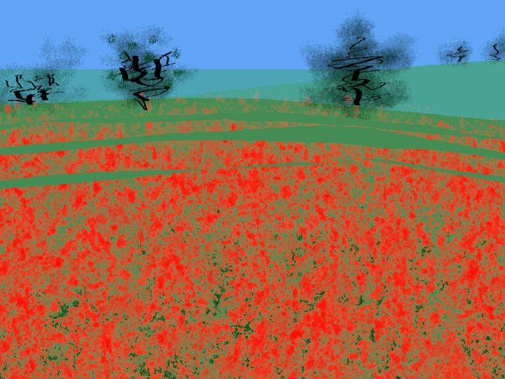 Gerald Edward William Shepherd - Poppy Field