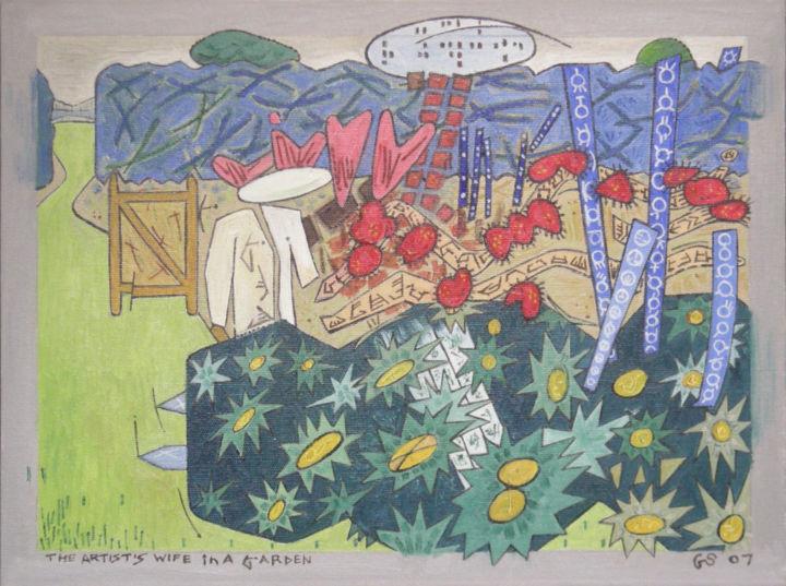 Gerald Shepherd - The Artist's Wife In A Garden 2