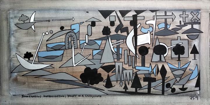 Gerald E. W. Shepherd - Spontaneous Improvisation: Yacht In A Landscape